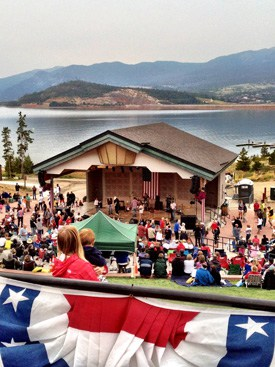 ampitheater in dillon colorado july 4 2012 concert Fourth of July in Summit County