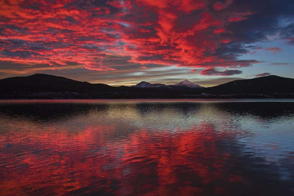 Photo of Sunset Reflected in Lake Dillon
