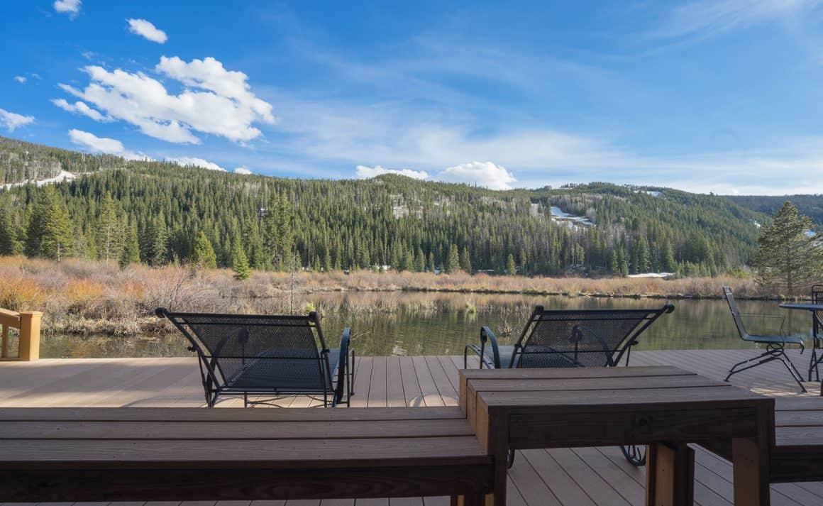 Sunny Common Deck in River Bank Lodge Condo 2903