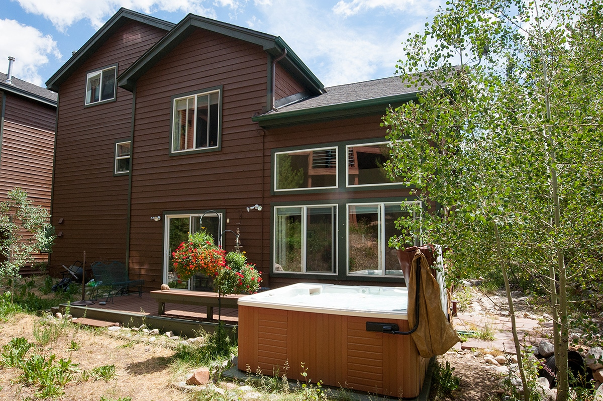 Rear Exterior with Deck & Hot Tub - 75 Salt Lick Place