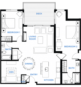 Image - Summit Residences - Floorplan for 2bed 3bath 1lockoff - 1404 square feet