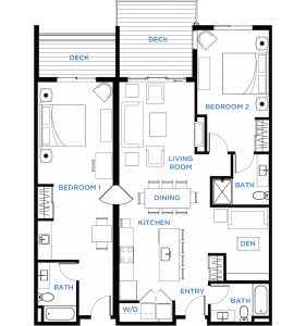 Image - Summit Residences - Floorplan for 2bed 3bath 1lockoff - 1471 square feet