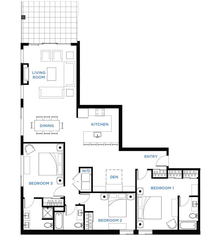 Summit Residences - Floorplan for 3bed 3bath no lockoff - 1788 square feet