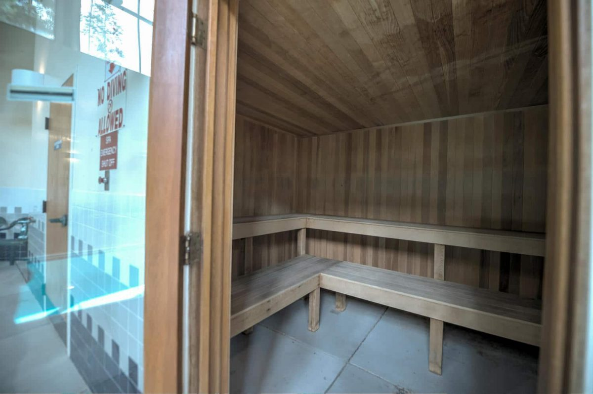 Sauna in Treehouse Guest Clubhouse