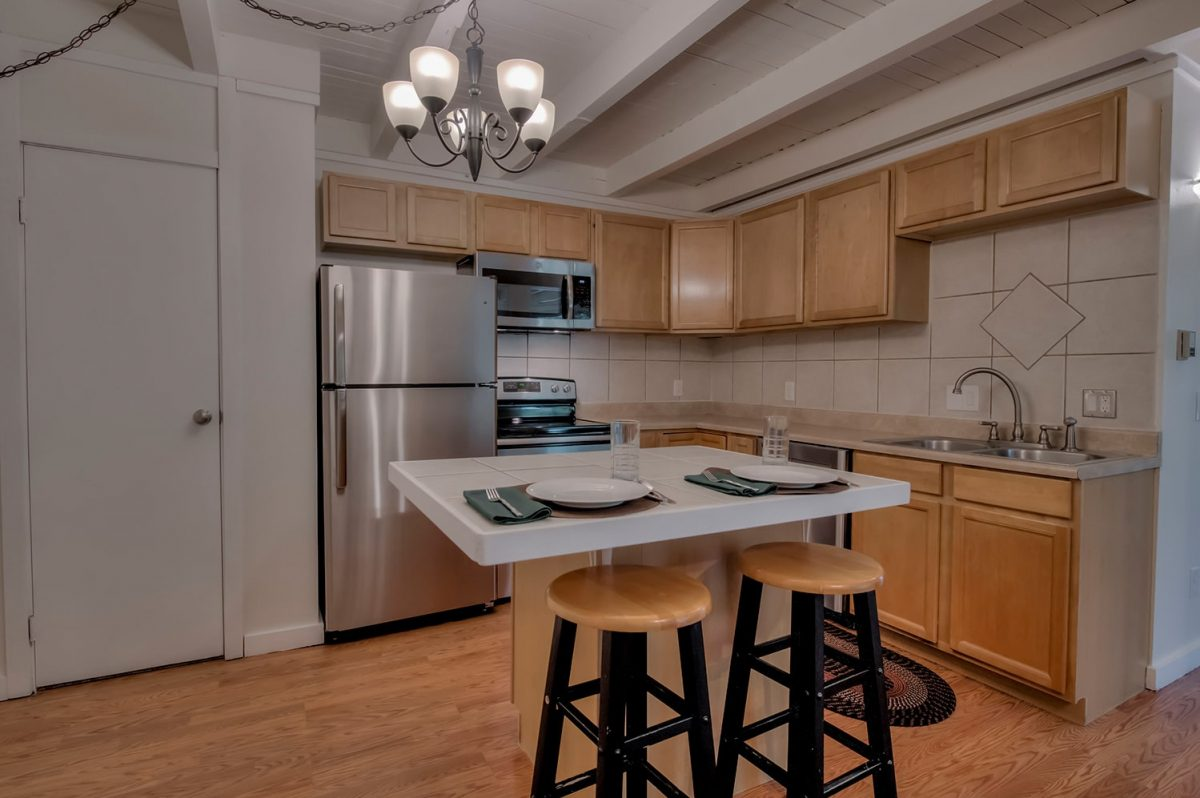 Kitchen and Center Island - Treehouse A-206 Silverthorne Condo for Sale
