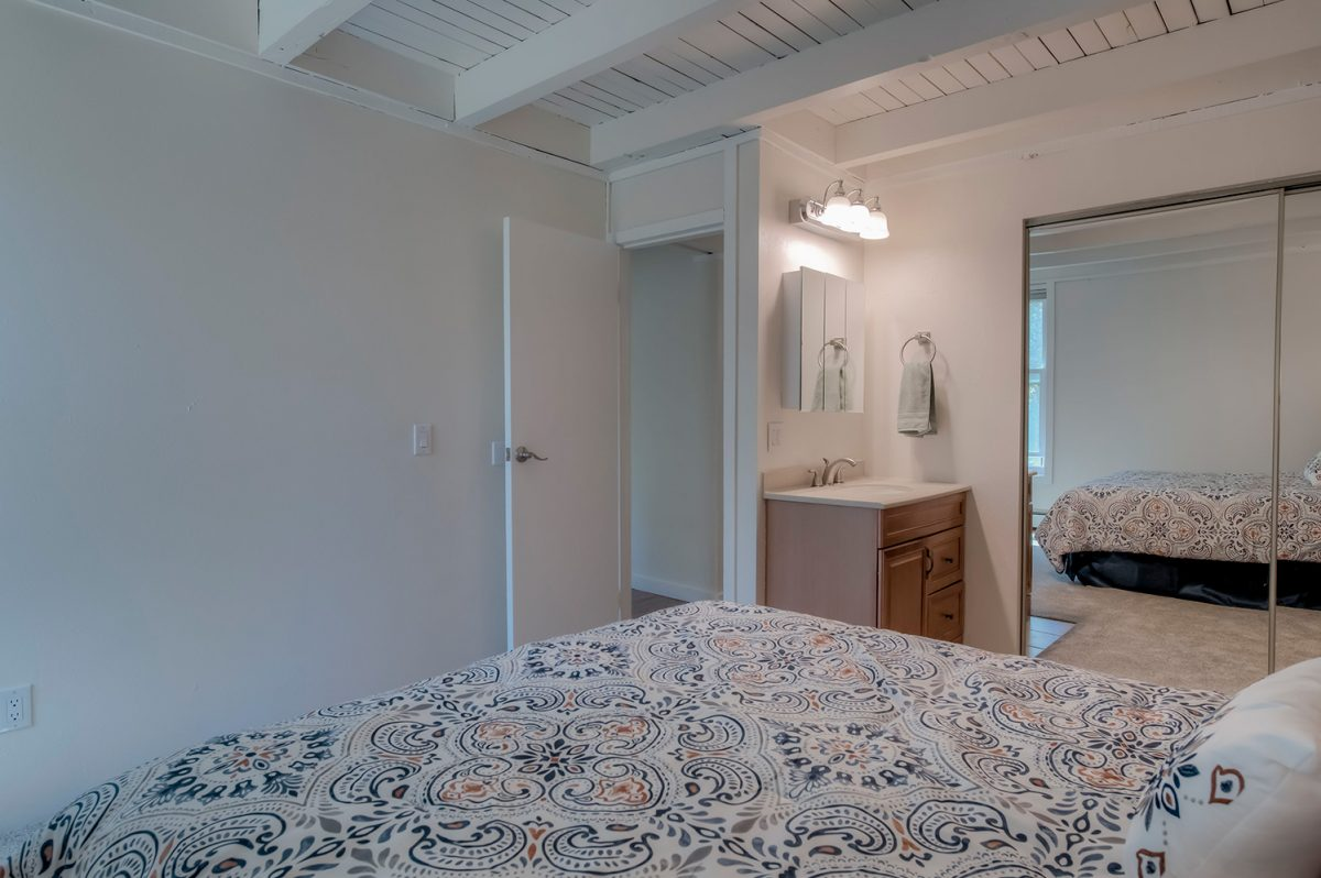 Master Bedroom & Vanity Sink - Treehouse A-206 Wildernest Condo for Sale
