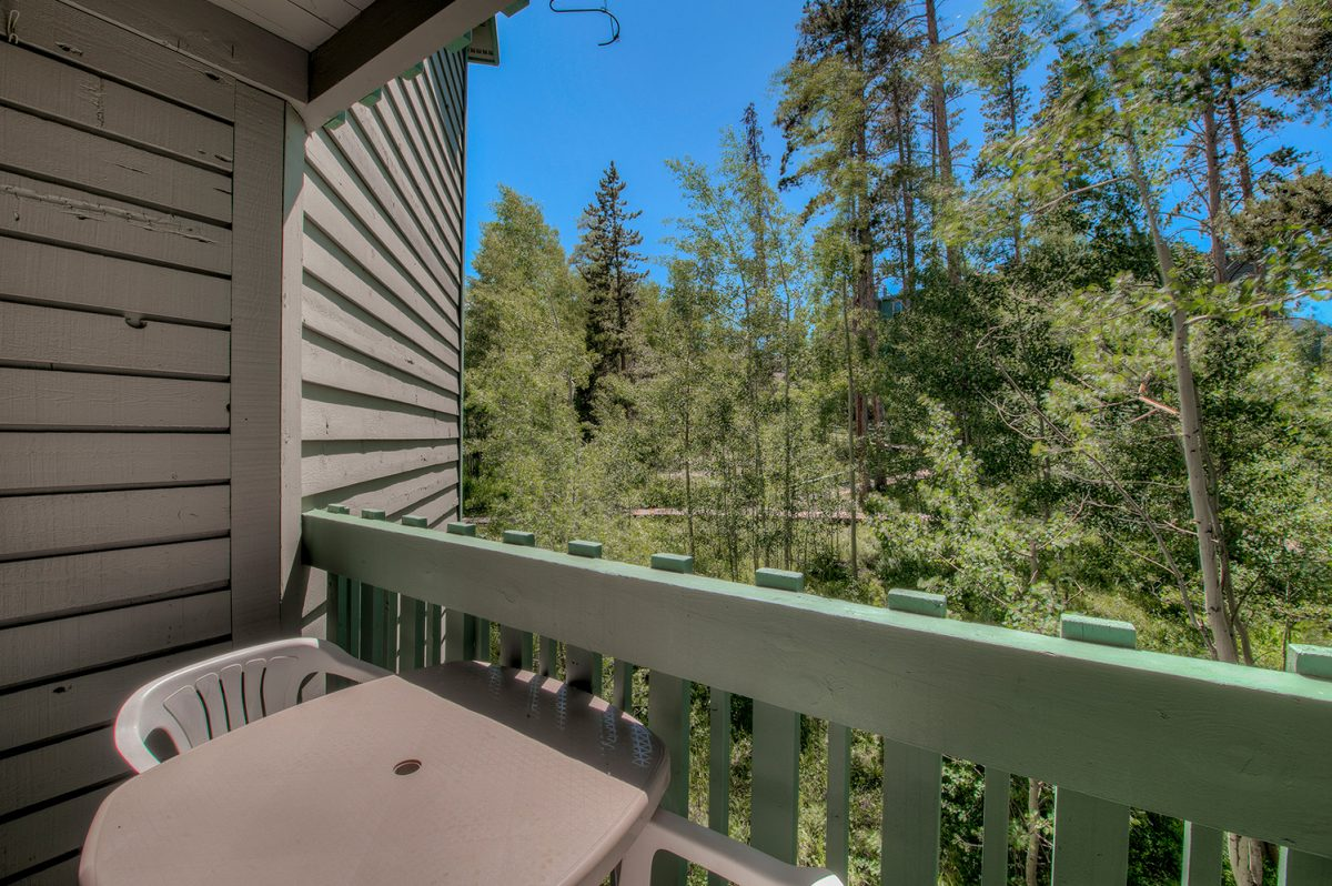 Private Deck - Treehouse A-206 Condo for Sale Wildernest