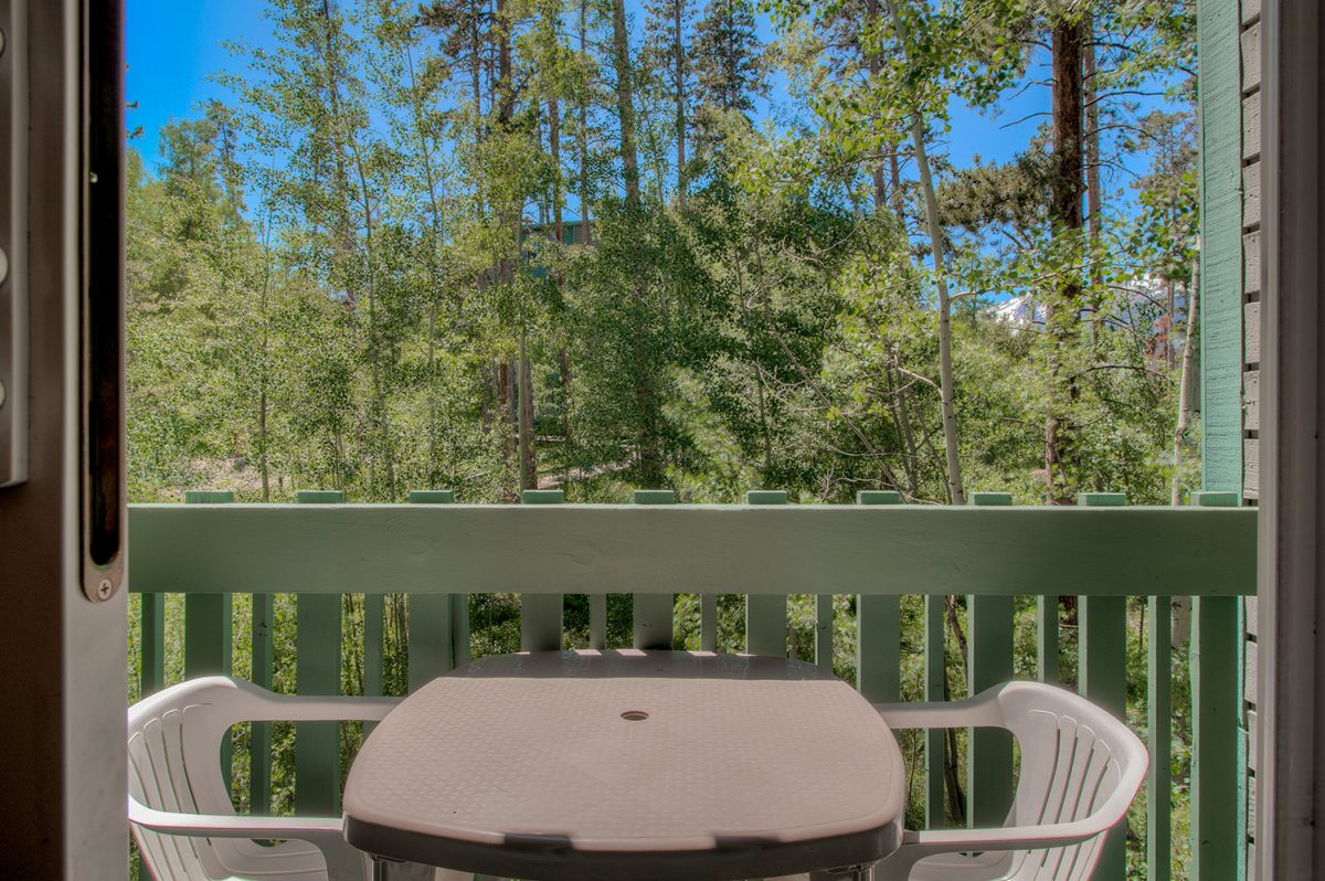 Private Deck - Treehouse A-206 Wildernest Condo for Sale