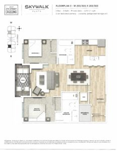 Fourth Street Crossing - Skywalk Flats - Floorplan 3