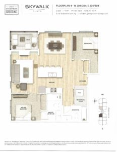 Fourth Street Crossing - Skywalk Flats - Floorplan 4