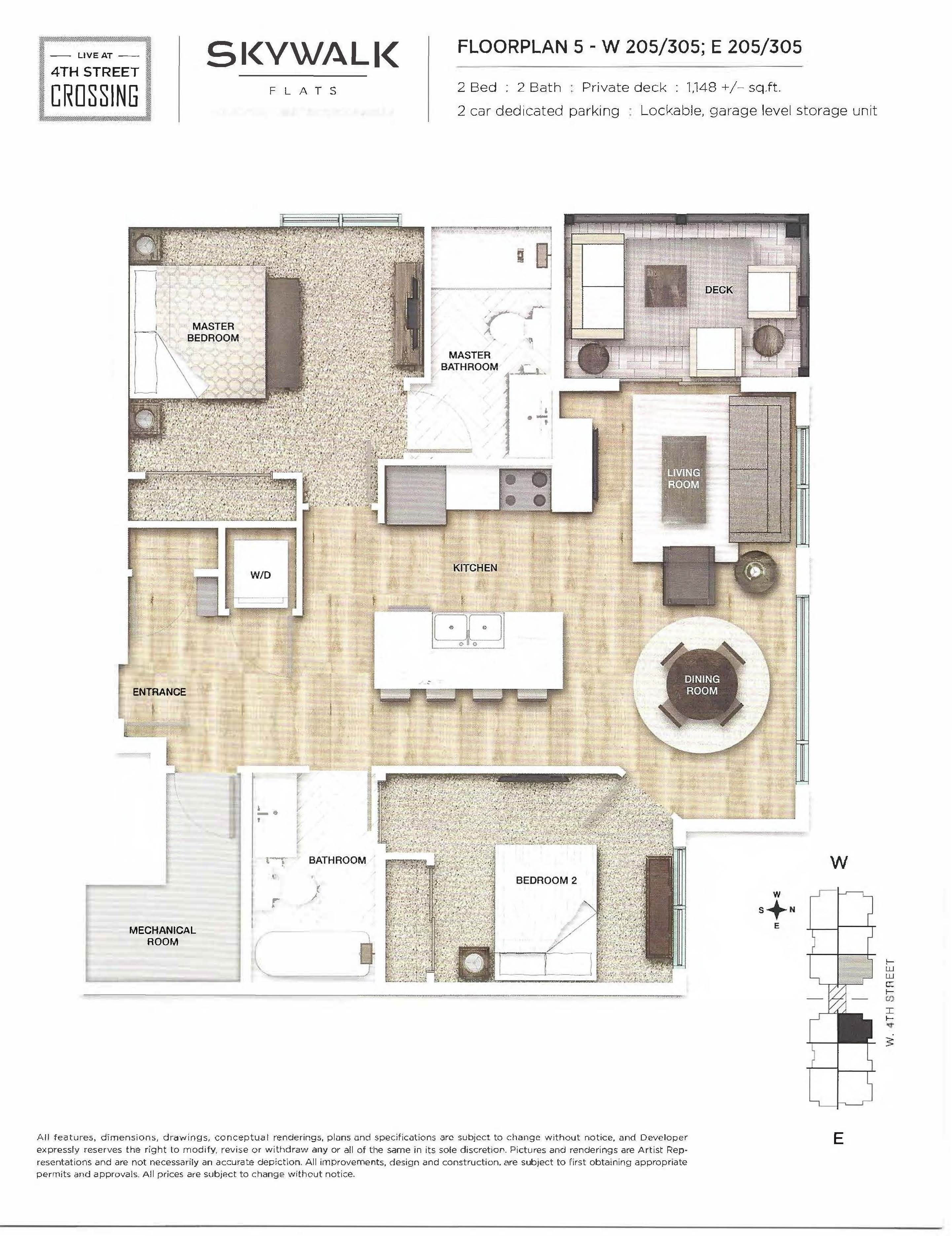 Fourth Street Crossing - Skywalk Flats - Floorplan 5