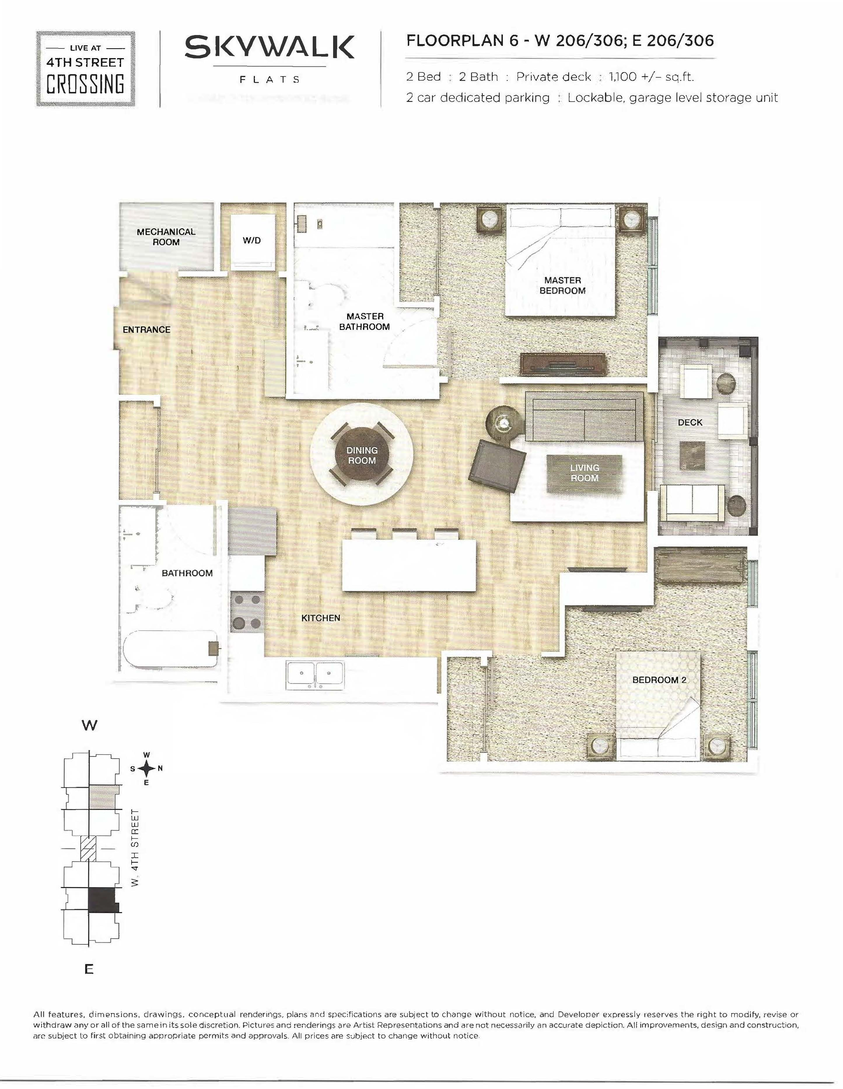 Fourth Street Crossing - Skywalk Flats - Floorplan 6