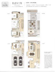 Image - Fourth Street Crossing - Elevate Rowhomes - Vista Floorplan